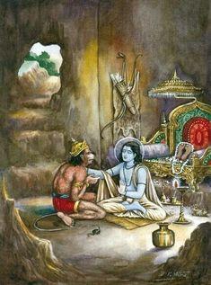 Jai Sri Rama and Hanuman Hanuman Images, Radha Krishna Images, Krishna Art, Krishna Drawing, Krishna Leela, Radhe Krishna, Lord Krishna, Lord Shiva, Om Namah Shivaya