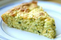 Impossible zucchini pie. Have always wanted to try this one.