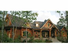 Craftsman House Plan with 2343 Square Feet and 3 Bedrooms from Dream Home Source | House Plan Code DHSW68385 craftsman houses, home plans, dream homes, hous plan, floor plans, mountain lodge, dream houses, craftsman homes, house plans