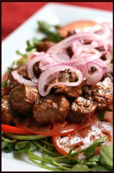 Great Recipe for one of my favorite Vietnamese dishes. Bo Luc Lac (Shaking Beef) It is authentic, easy and delicious.