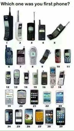 which was YouR first cellular phone? Mine was Nostalgia, Lets Play A Game, Old Technology, Phones For Sale, Old Phone, Smartphone, The Good Old Days, Tech Gadgets, Walkie Talkie