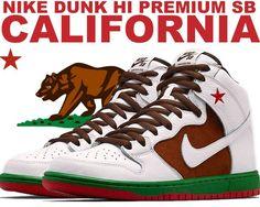 "Nike DUNK HI PREMIUM SB ""CALIFORNIA"""