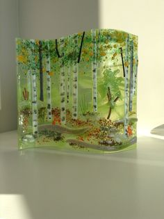 E. Badiuk Fused Glass - Summer Aspen Wave 3