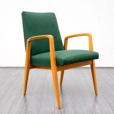 50er Jahre Sessel von Eugen Schmidt, Kirschholz von VELVET-POINT VINTAGE STORE auf DaWanda.com