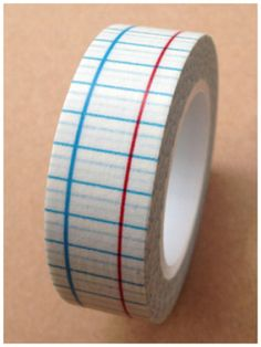 Grid Washi Tape Blue & Red Roll Adhesive Stickers by CharmTape, $2.98