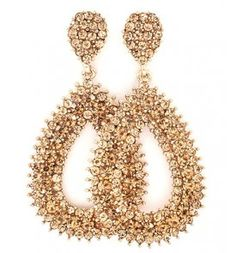Gold and Brown Oval Earrings