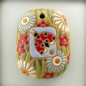 rectangle pendant with ladybug