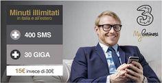 Scopri l'offerta Unlimited Plus Azienda a 15€ anziché 30€ ✔30 GB di Internet in 4G LTE  ✔Minuti illimitati in Italia e all'estero  ✔400 Sms Offerta valida da Venerdì 5 Maggio fino a Mercoledì 31 Maggio! Solo per clienti TIM e VODAFONE Solo per clienti con Partita IVA Per ricevere maggiori info compila il modulo con i tuoi dati ti richiamiamo noi. http://www.megasite.it/unlimitedplusperte15/   #3MyBusiness  #Tariffe #3Italia #Telefonia #Offerte #Smartphone #SMS #Internet #Promozioni #business…