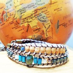 """""""We travel some of us forever to seek other places other lives other souls.  Anais Nin   wanderlustwrists.etsy.com   #wanderlust #travel #explore #adventure #bracelet #handmade #jewelry #chanluu #christmas #etsy #stockings #stockingstuffers #gemstones #crystals"""