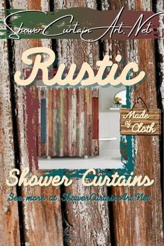 Drastically enhance your bathroom decor with a soft & stylish fabric shower curtain from Shower Curtain Art. Diy Rustic Decor, Rustic Shower, Washroom Decor, Rustic Bathroom Ideas Farmhouse, Rustic Farmhouse Kitchen, Bathroom Interior Design, Rustic Wood Signs, Rustic Home Decor, Rustic Shower Curtains