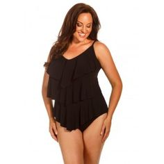 Magicsuit Women's Solid Rita Tankini Top | Slimming Swimwear