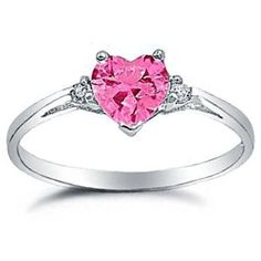 925 Sterling Silver Ring Pink CZ-Heart Shape-Band Width:2mm (Jewelry)  http://www.amazon.com/dp/B007TBSEBK/?tag=trafficwebcli-20  B007TBSEBK