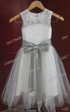 ALine Lace Flower Girl Dress Cute Flower Girl by GirlChildren, $42.00