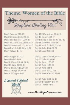 2019 Scripture Writing Plan - Theme: Women of the Bible Studying the Women of the Bible is a wonderful way to learn how to be a godly woman yourself! Join us for 31 days of learning from the women God chose to share with us in the scriptures. Forgiveness Scriptures, Bible Scriptures, Bible Quotes, Quotes Quotes, Healing Scriptures, Faith Quotes, Strength Scriptures, Forgiveness Prayer, Forgiveness Quotes Christian