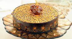 حلوى الشوكولاتة مع القرع والمارون جلاسيه visit www.fatafeat.com