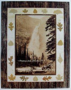 Canadian Nature Waterfalls Yoho Park BC Art Print, Takakkaw Falls, by Unknown   eBay $13.99