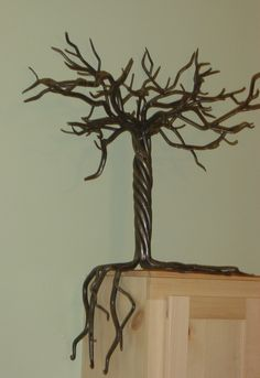 Forged and welded steel tree