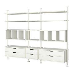 IKEA - STOLMEN, 3 Elemente,  , , Höhenverstellbar von 210-330 cm; so kann die gesamte Deckenhöhe genutzt werden.Kann an der Decke oder an der Wand angebracht werden.Für perfekte Nutzung des Innenraums eignet sich SKUBB Aufbewahrung, 6er-Set.Die Schublade schließt sich auf den letzten Zentimetern selbsttätig.Leicht laufend mit Ausziehsperre.