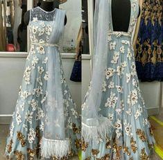 Preet Indian Gowns, Indian Attire, Pakistani Dresses, Indian Outfits, Indian Lehenga, Lehenga Choli, Indian Wear, Sari Blouse Designs, Lehenga Designs