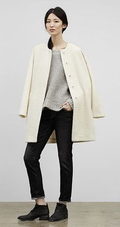 I love this minus the shoes.  Clothes like this is the reason I love Autumn. | EILEEN FISHER