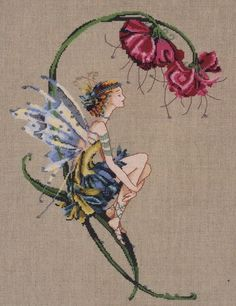 Mirabilia The Bliss Fairy Counted Cross Stitch Chart - Counted Cross Stitch Kits Cross Stitch Fairy, Cross Stitch Angels, Cross Stitch Needles, Cross Stitch Kits, Counted Cross Stitch Patterns, Cross Stitch Charts, Cross Stitch Designs, Cross Stitch Embroidery, Embroidery Patterns