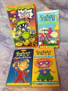 Rugrats Movie Nickelodeon VHS Lot 4 Chuckie the Brave Angelica the Devine Granpa