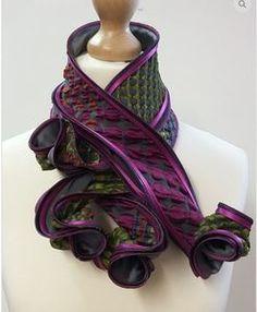 Hosta Silk Scarf in Purple - Handmade in England