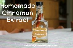 Homemade Cinnamon Extract - SO easy, and makes a great gift!