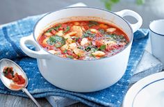 Chorizo, butter bean and spinach stew | Tesco Real Food