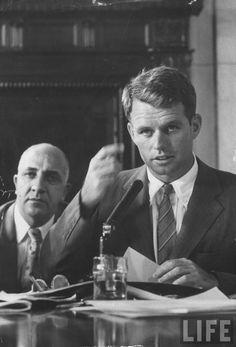 Robert F. Kennedy at Senate hearing. Location:US Date taken:August 1957 Photographer:Hank Walker