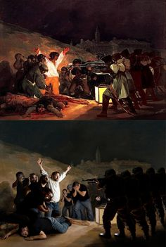 """Goya """"The Shootings of May Third"""" 1808 Remake by Marian Lucas"""