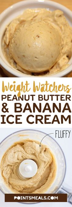 #weight_watchers Peanut Butter and Banana Ice Cream #dessert #ice_cream