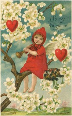 Valentine's Day reached its height of popularity during the romantic Victorian age. Valentine Images, Vintage Valentine Cards, Vintage Cards, Vintage Postcards, Valentine Ideas, Vintage Ephemera, Vintage Christmas Images, Vintage Christmas Ornaments, Vintage Holiday
