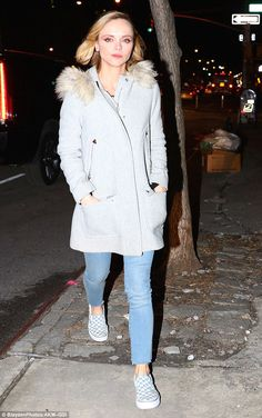 Stepping out: Christina Ricci was seen leaving New York's CBS studio following an intervie...