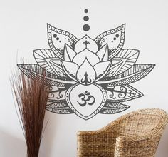Here's a little flower power for your Wednesday with this beautiful lotus flower wallsticker!
