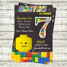Lego Birthday Invitation by SweetClassix on Etsy