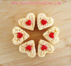 Rice Krispie Hearts From Packaged Rice Krispie Treats
