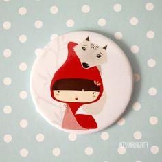 Pocket Mirror / Little Red Riding Hood por missmalagata en Etsy, €5,50
