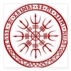 Aegishjalmur: Viking Protection Rune Square Sticker x Aegishjalmur: Viking Protection Rune Sticker by - CafePress Rune Symbols, Viking Symbols, Viking Art, Mayan Symbols, Egyptian Symbols, Ancient Symbols, Viking Rune Tattoo, Viking Tattoos, Norse Runes