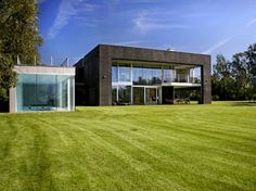 Modern Black Cube House project