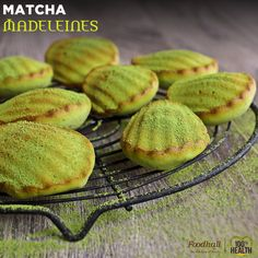 The Perfect pastry to savor with a cup of tea, we've given these classic French Madeleines a Matcha twist!