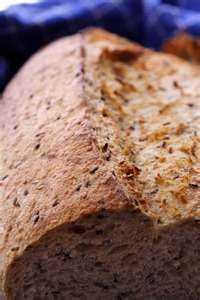 flaxseed bread Ingredients 2/3 cup flax meal 1/3 cup almond meal 1 1/2 tsp baking powder Pepper to taste Salt to taste Approximately 3 tsp olive oil or coconut oil 2 eggs Optional can add crushed thyme, sage, oregano, rosemary or cinnamon to taste Water to make the batter pourable