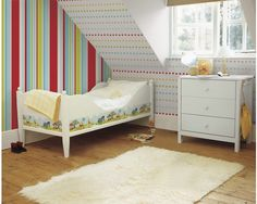 Papiertapete Kids@Home Long Island Stripe Lila jetzt kaufen bei HORNBACH Österreich