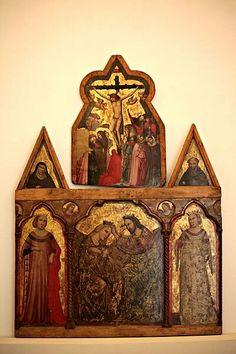Incoronazione della Vergine e due Sante martiri del Maestro dell'Incoronazione di Urbino, prima metà sec. XIV.