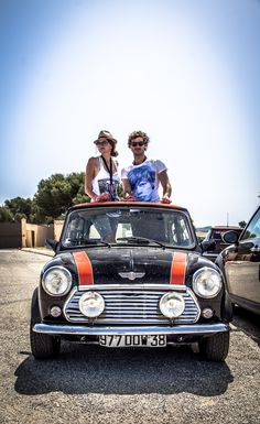 a stunning classic Mini basks in sunlight.