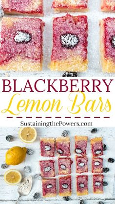 How to Make Blackberry Lemon Bars | Lemon bars are one of our favorite treats. I love the mixture of sweet and tart and a super thick shortbread crust. These have the added deliciousness of fresh blackberries that puts them totally over the top! Click through now to get the recipe!