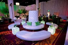 Lounge furniture popped in Herbalife's signature colors. Nutrition Club, Herbalife Nutrition, Ballrooms, Lounge Furniture, Event Design, Table Decorations, Pop, Green Weddings, Design Inspiration