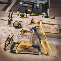 If you're a fan of the DeWALT brand of power tools, we've got big news for you. DeWALT hand tools are now available and they haven't just released a tape Woodworking Power Tools, Carpentry Tools, Woodworking Projects That Sell, Woodworking Jobs, Garage Atelier, Dewalt Power Tools, Stanley Tools, Brand Power, Construction Tools