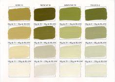 Emery & cie - Paints - Acrylic Paints - Colours - Shades - Page 05 Palette Deco, Deco Studio, Green Kitchen, Color Shades, My Room, Pantone, Color Inspiration, Decoration, Paint Colors