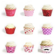 Valentine's Day cupcake wrappers - so many great choices at this shop!